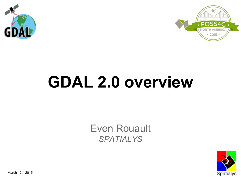 GDAL 2 0 overview | manualzz com