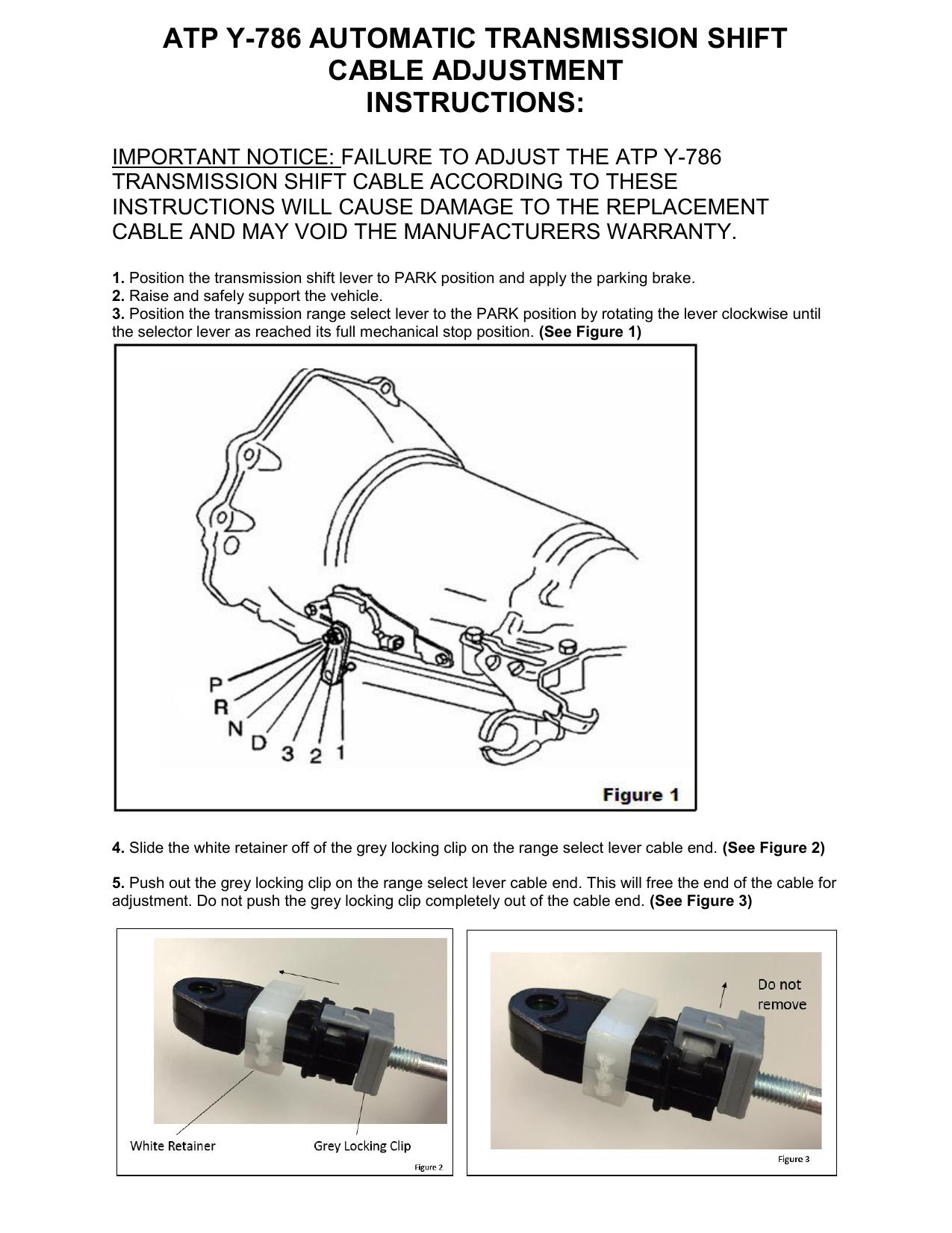 ATP Automotive Y-786 Transhift Cable