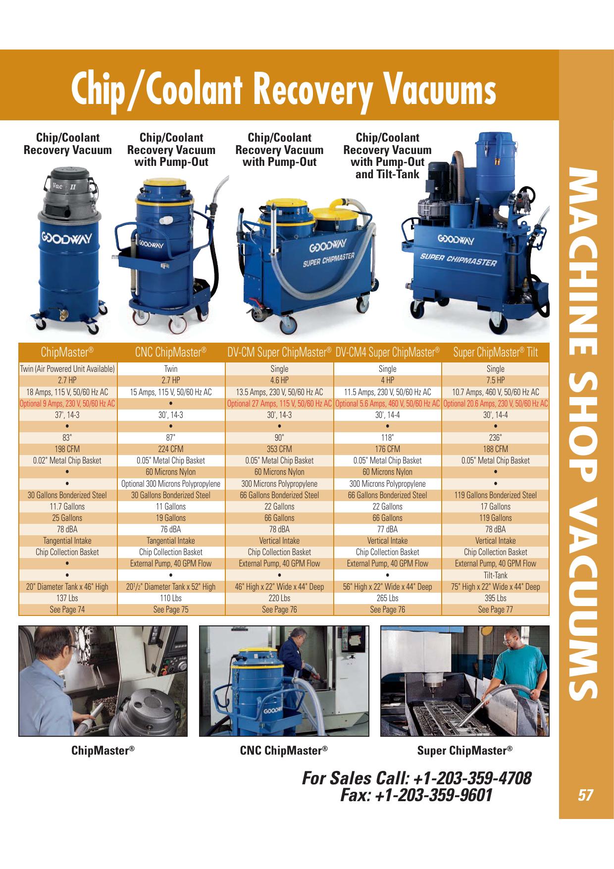 Chip/Coolant Recovery Vacuums | manualzz com