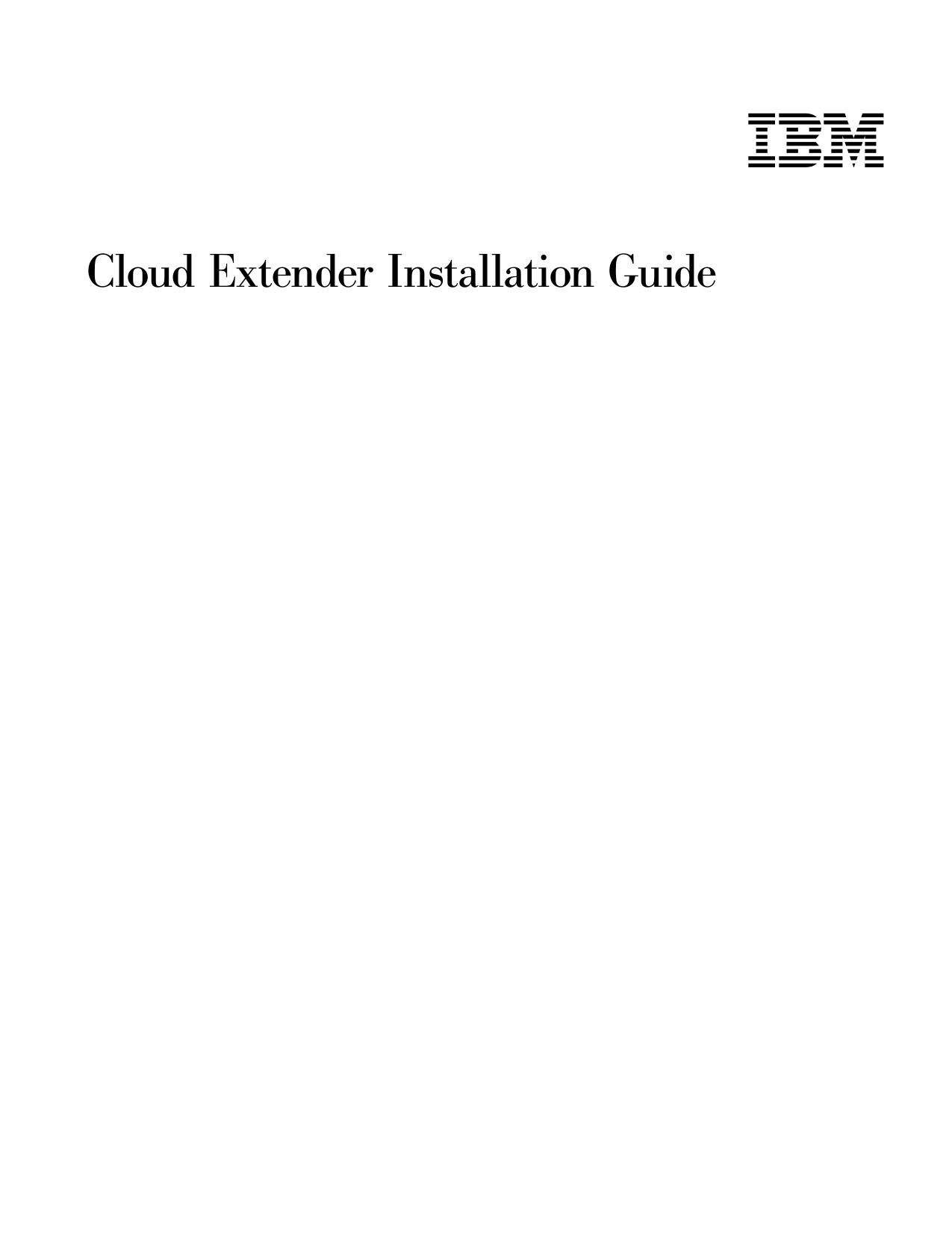 Cloud Extender Installation Guide | manualzz com