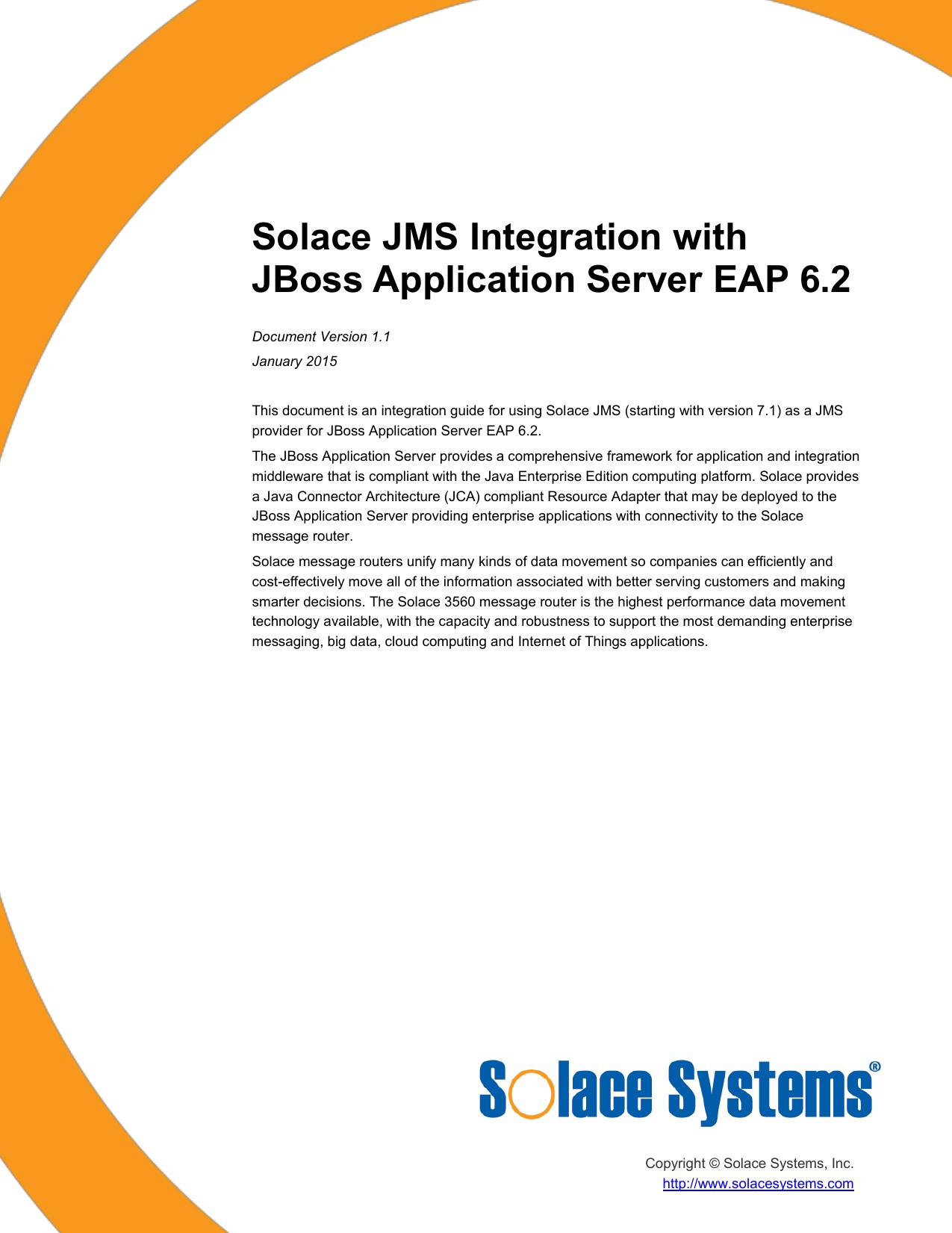 Solace JMS Integration with JBoss Application | manualzz com