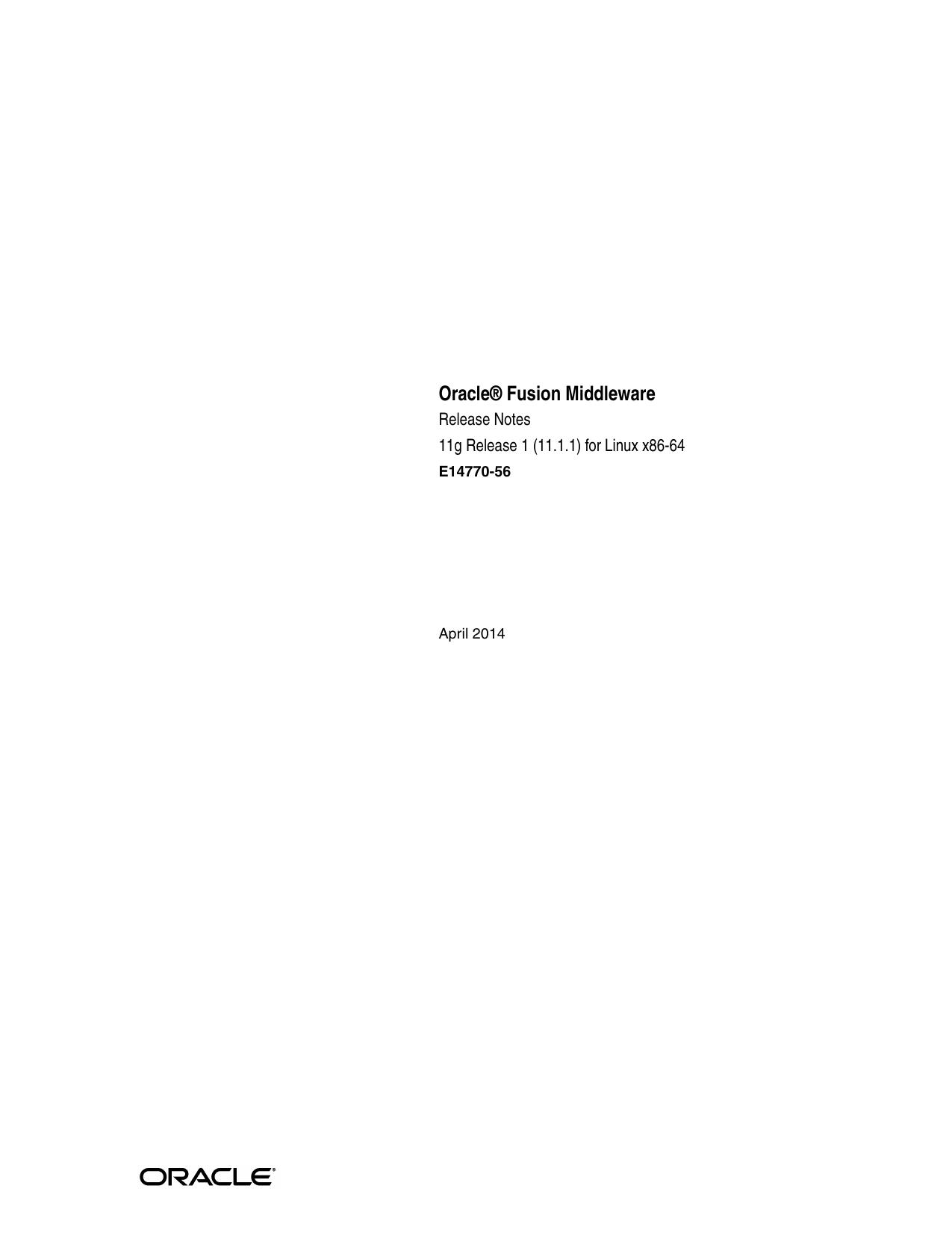 Oracle® Fusion Middleware | manualzz com