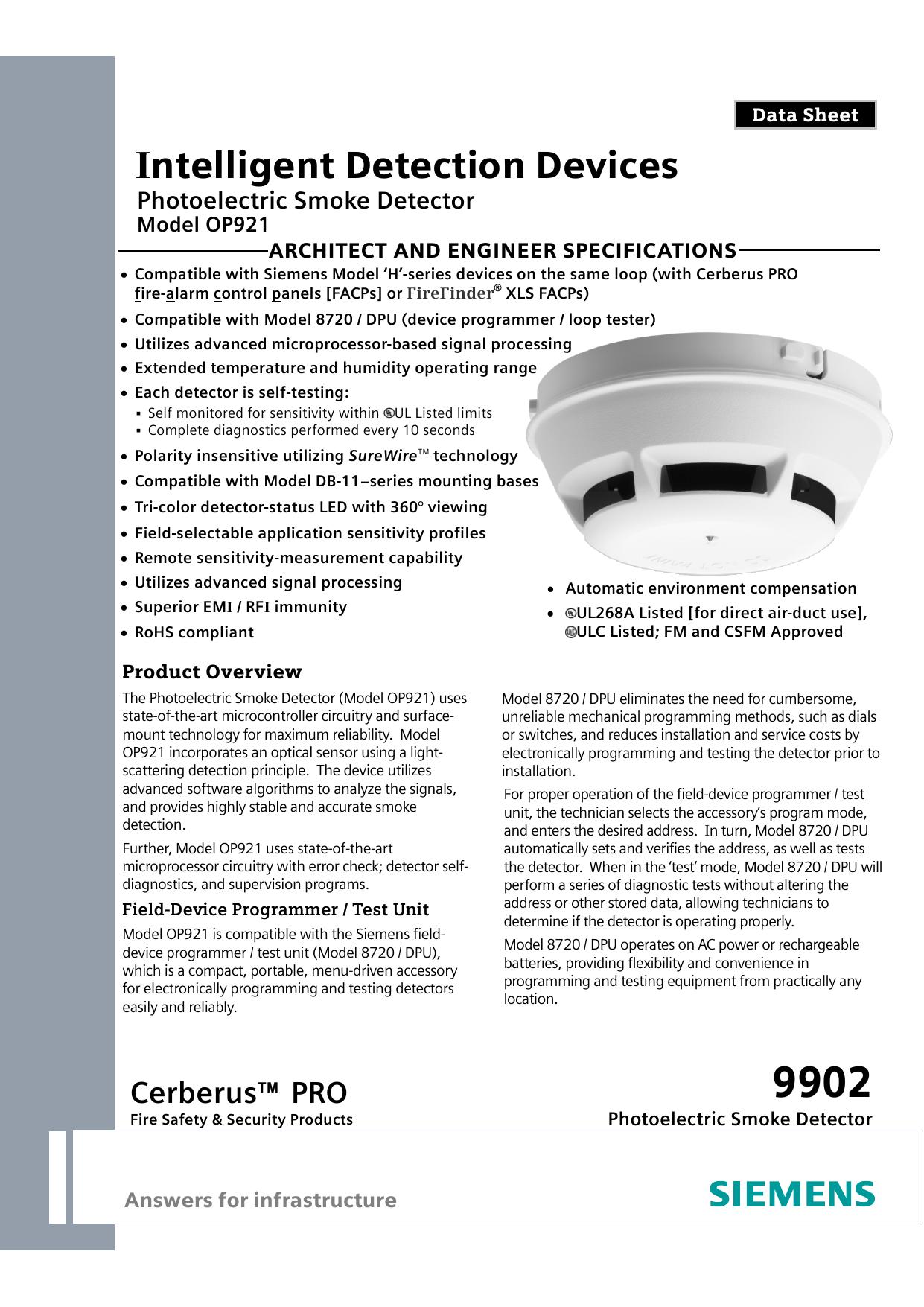 Intelligent Detection Devices | manualzz.com on