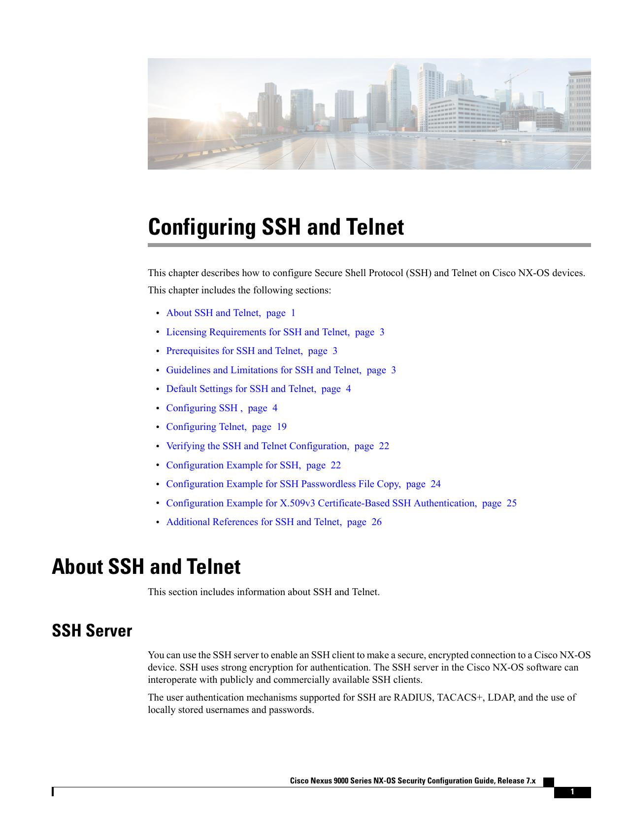Configuring SSH and Telnet | manualzz com