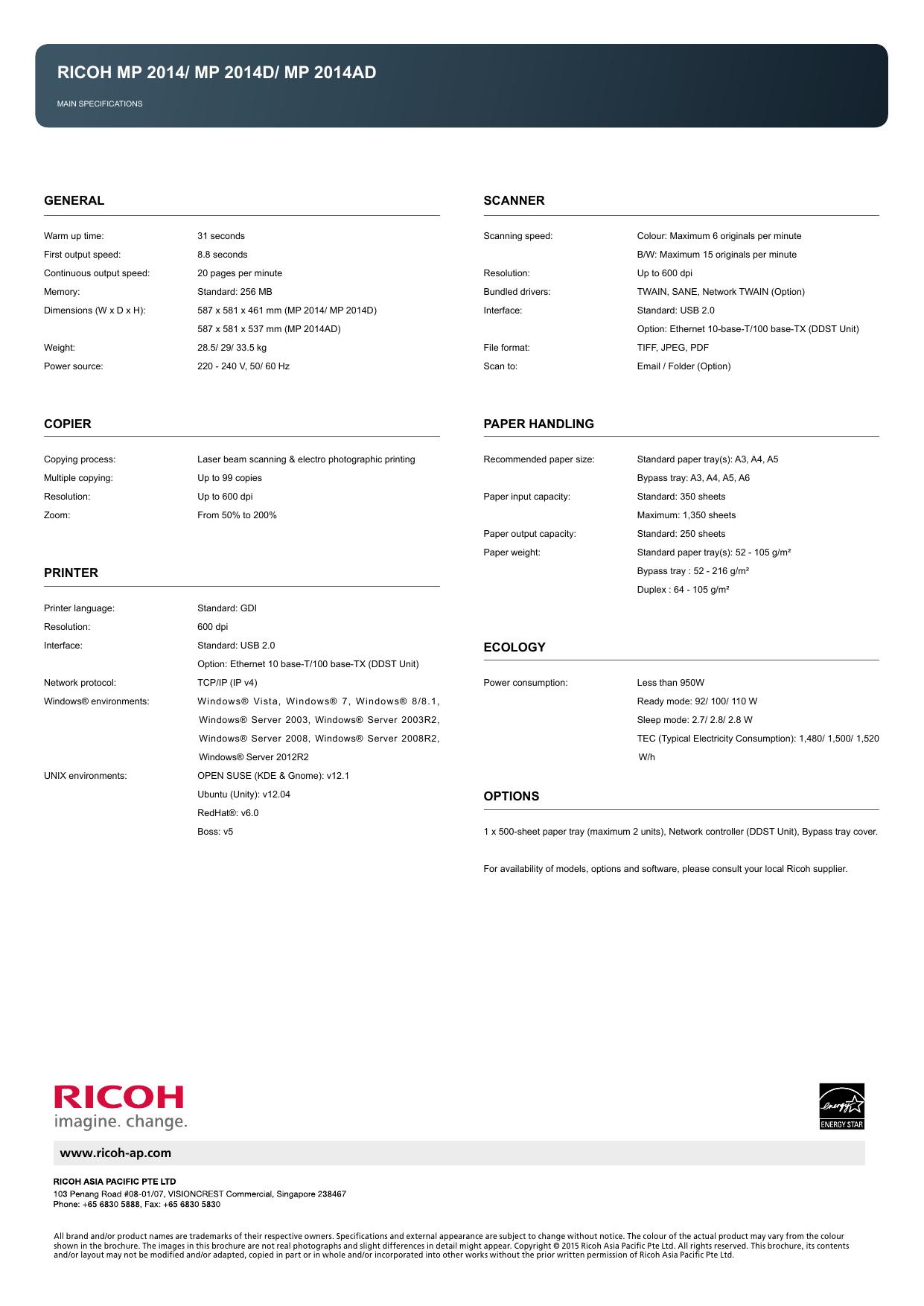 ricoh mp 2014/ mp 2014d/ mp 2014ad | manualzz com