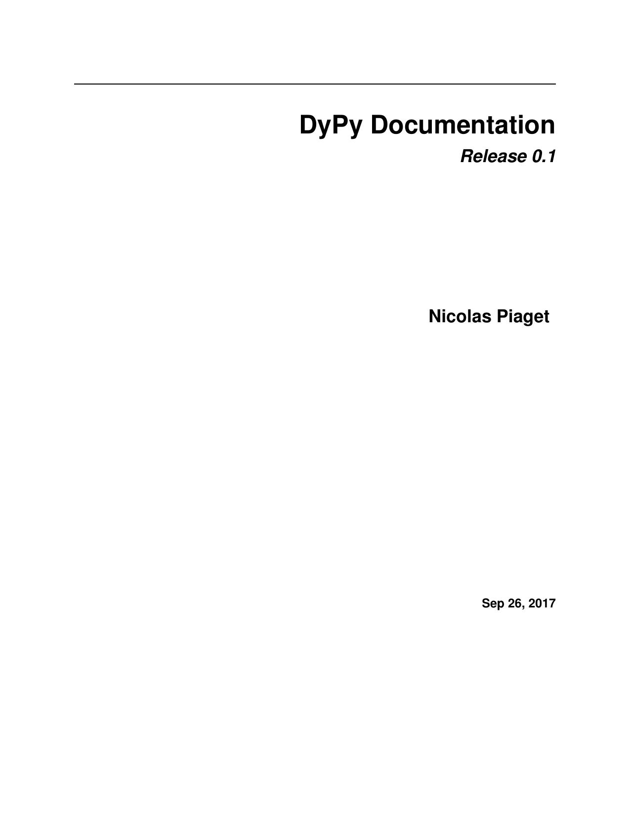 DyPy Documentation   manualzz com