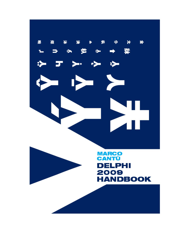 Marco Cantů Delphi 2009 Handbook - e | manualzz com