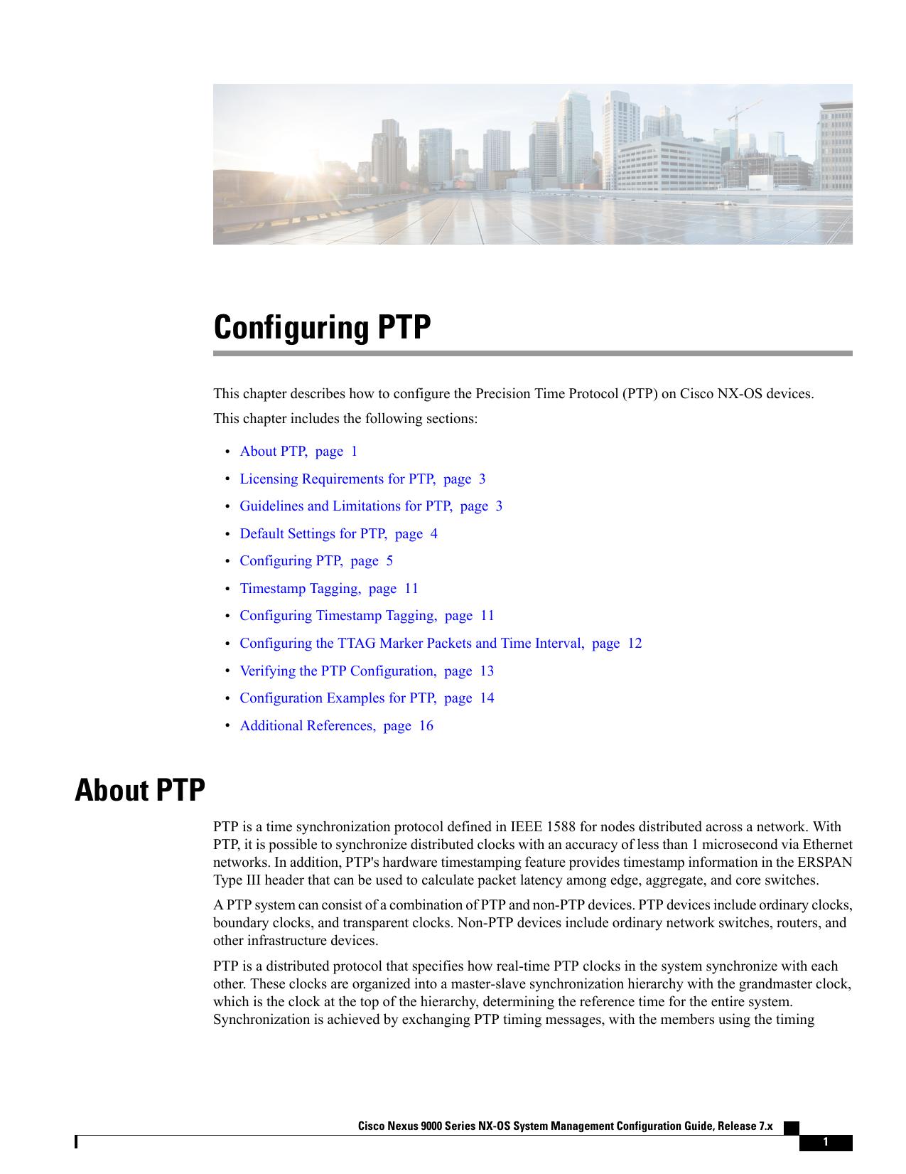 Configuring PTP | manualzz com