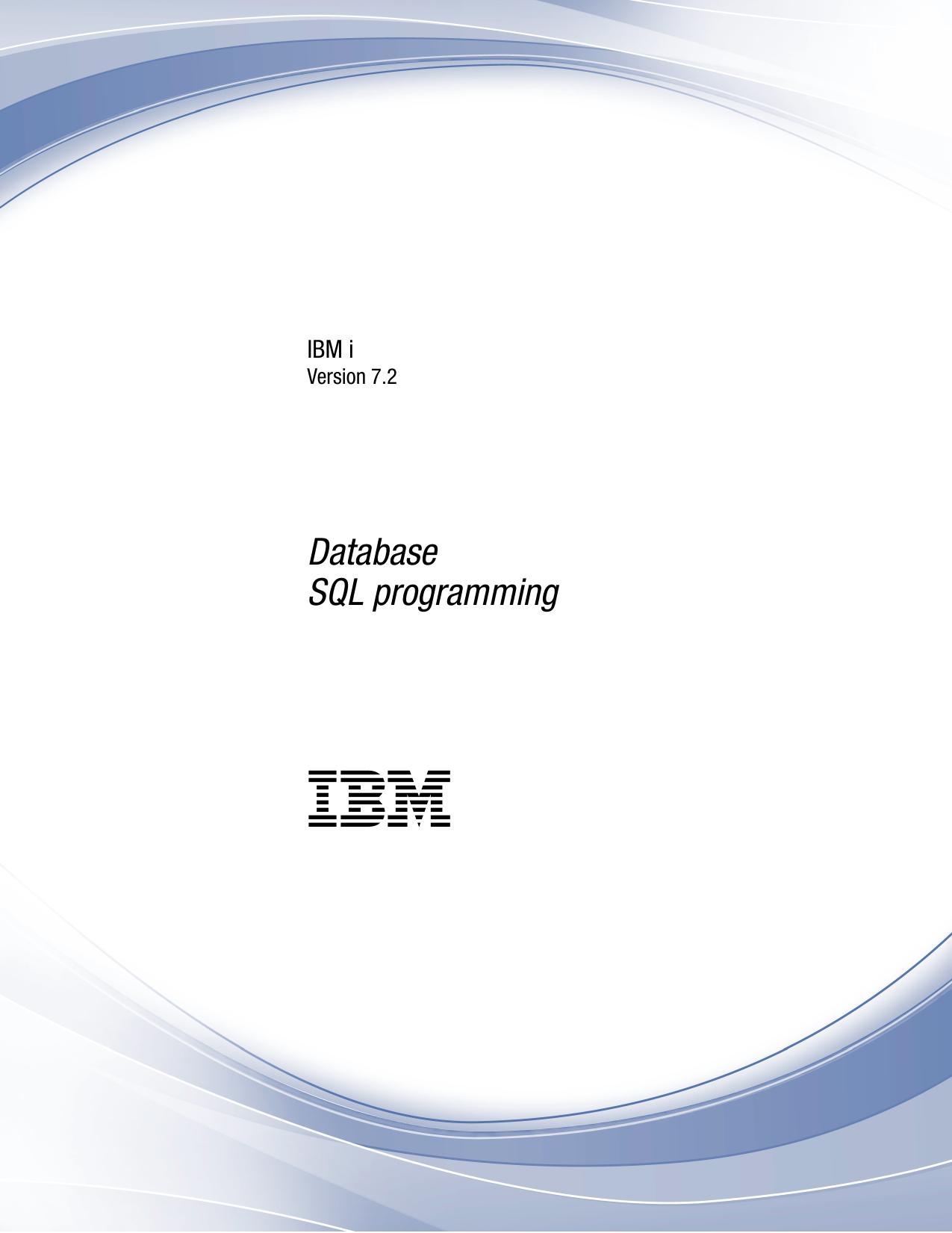 IBM i: SQL programming | manualzz com