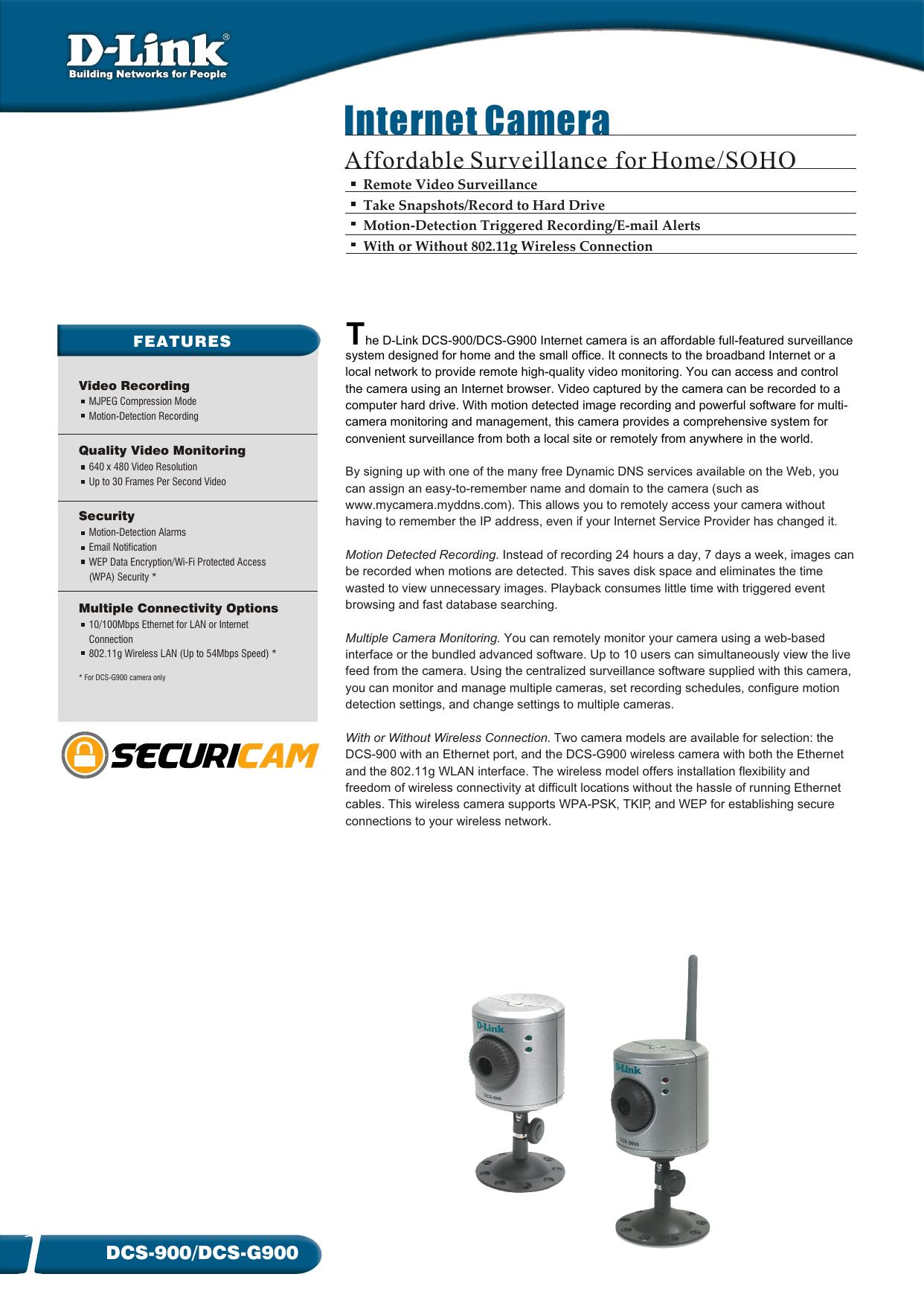 c-dcs900 G900-01 cdr - D-Link | manualzz com