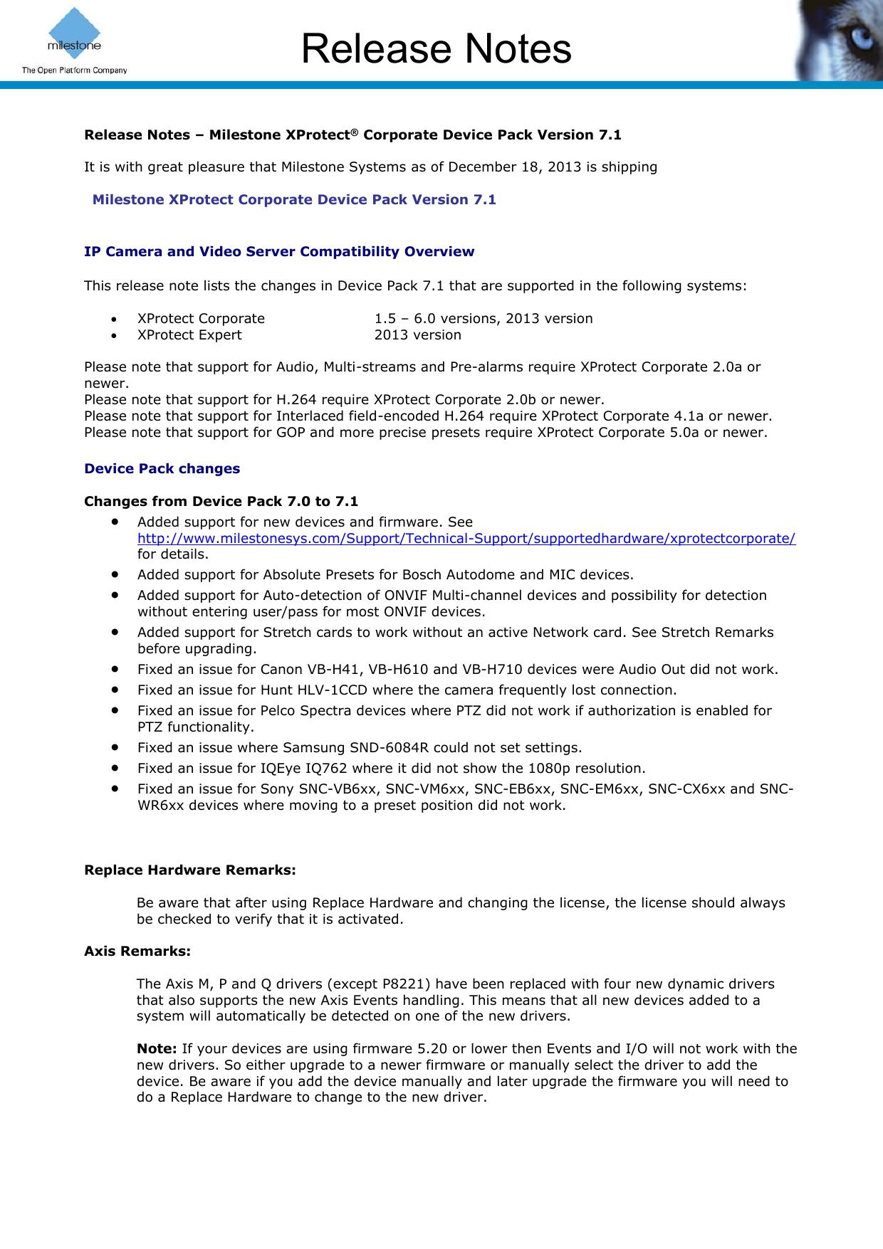 Release Notes | manualzz com