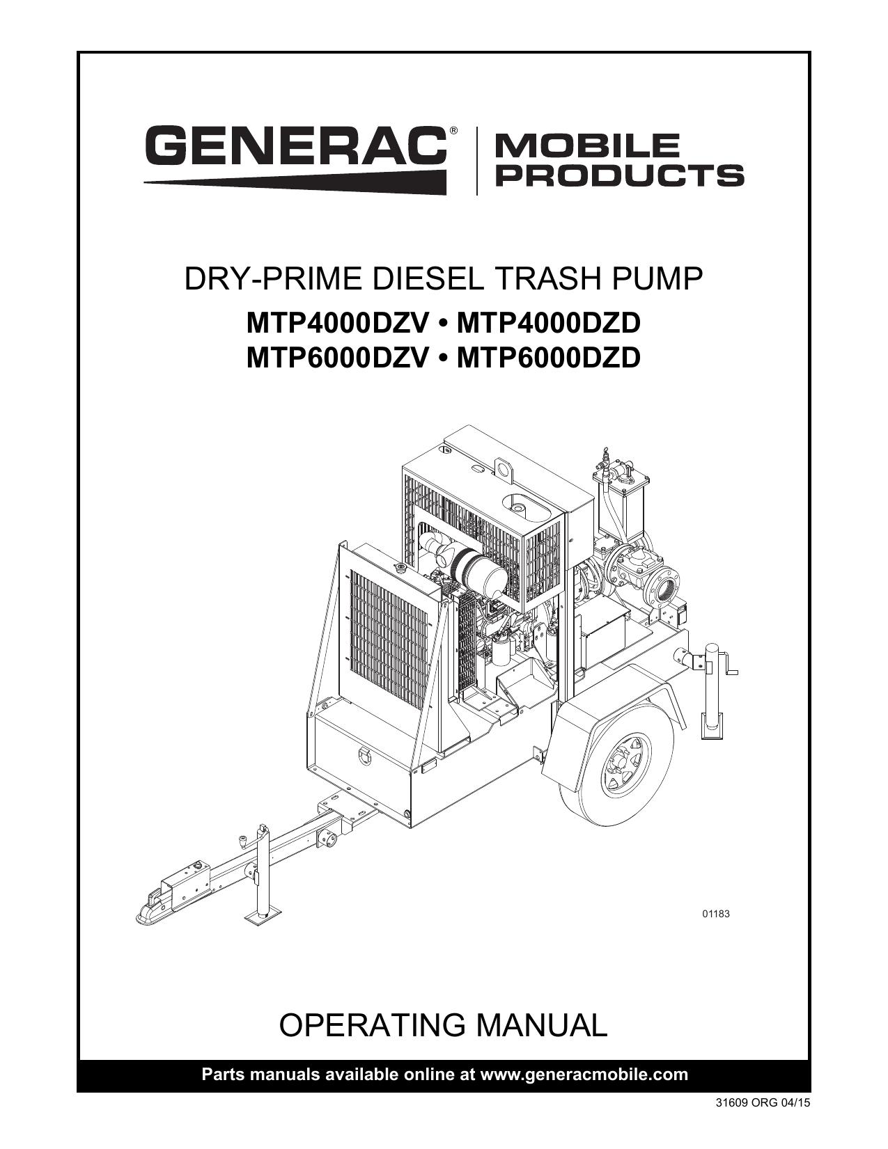 operating manual dry-prime diesel trash pump | manualzz com