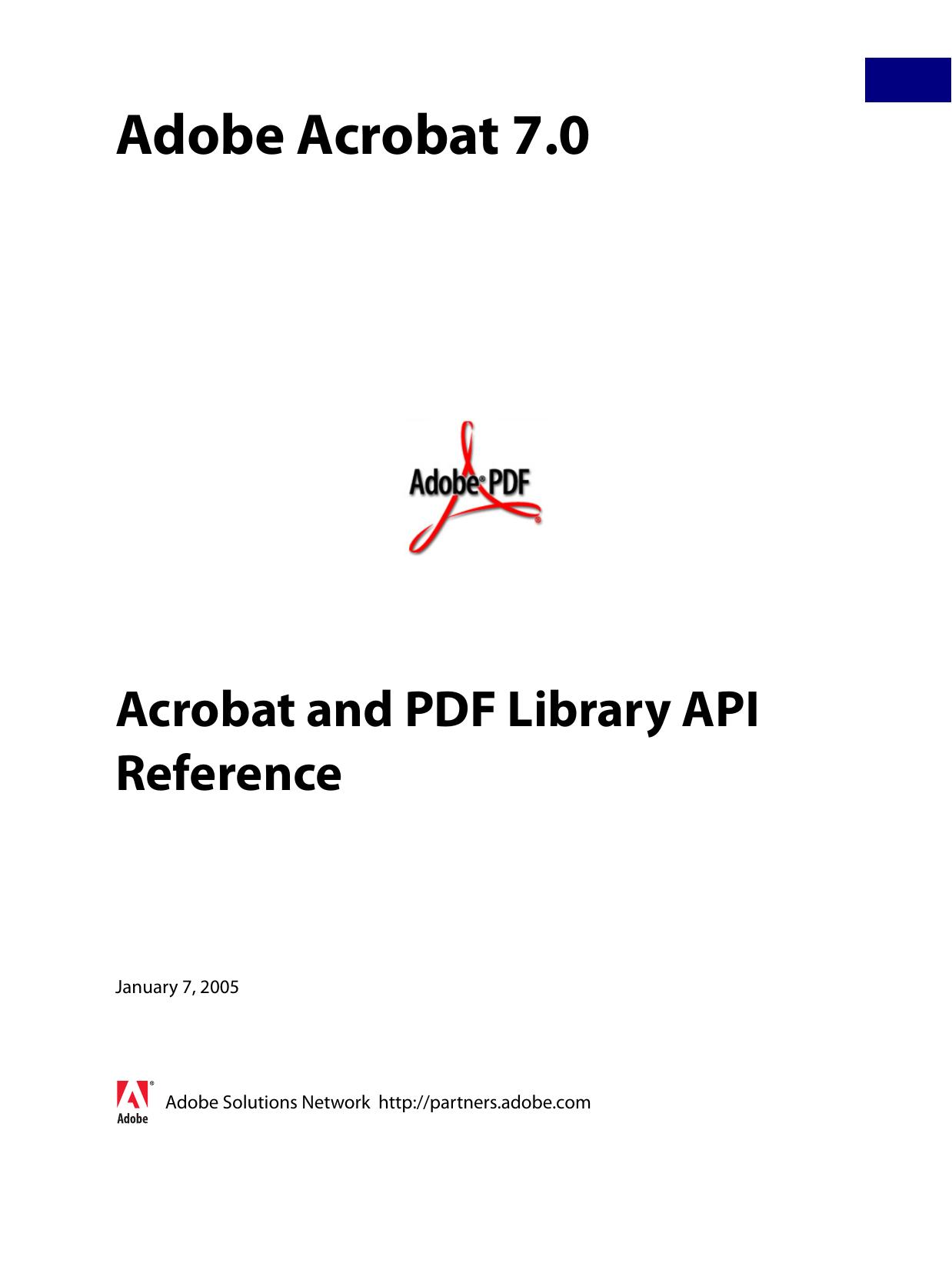 Acrobat and PDF Library API Reference | manualzz com