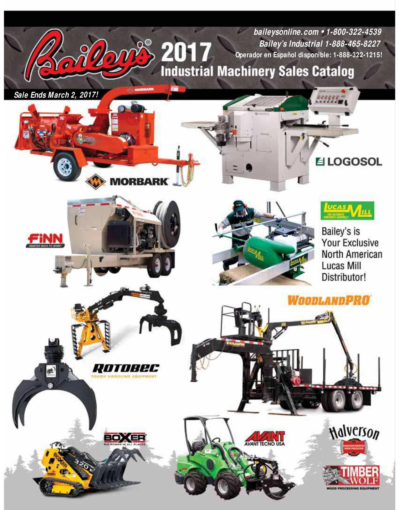 baileysonline com • 1-800-322-4539 Bailey`s Industrial 1-888