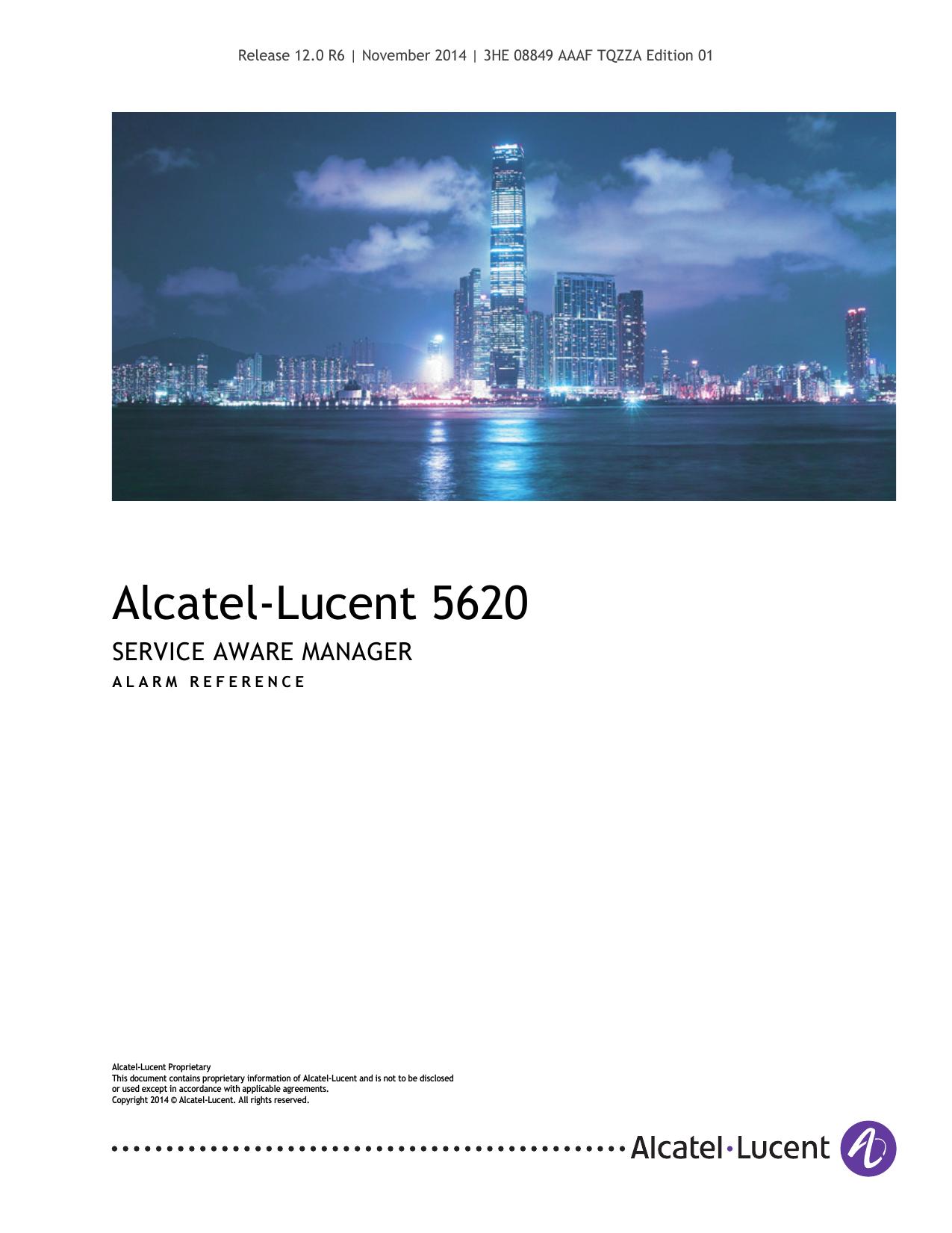 Alarm Reference - Alcatel | manualzz com