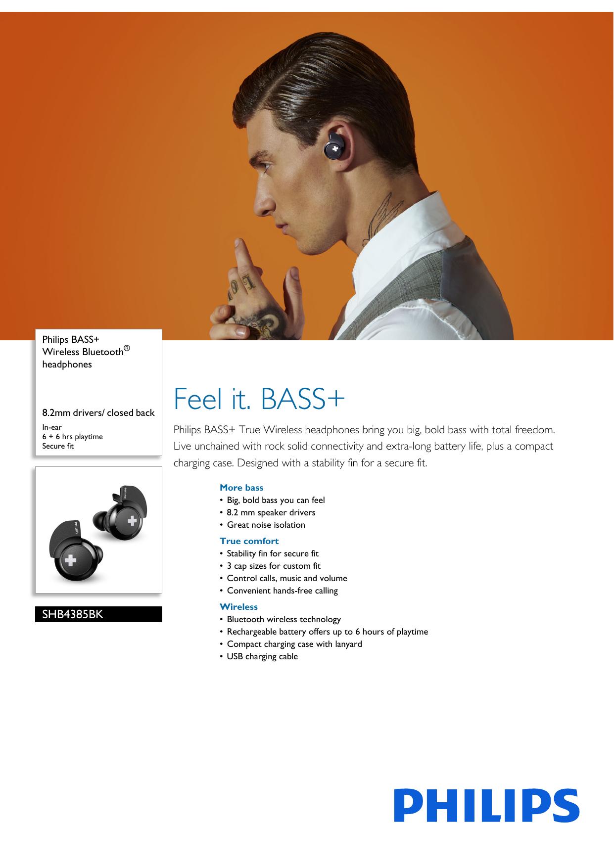 Shb4385bk 00 Philips Wireless Bluetooth Headphones Manualzz