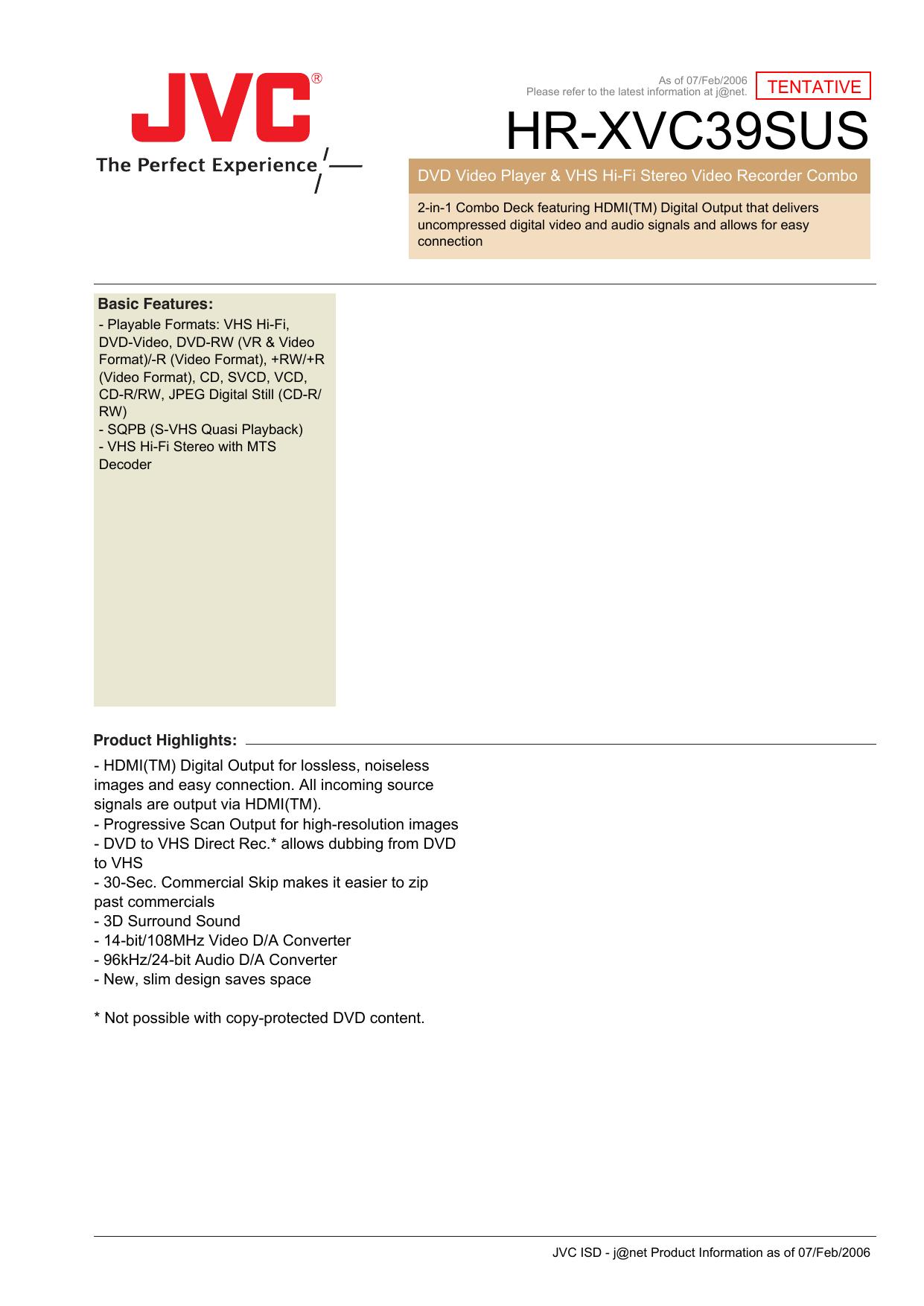 HR-XVC39SUS - PDF Text Files | manualzz com