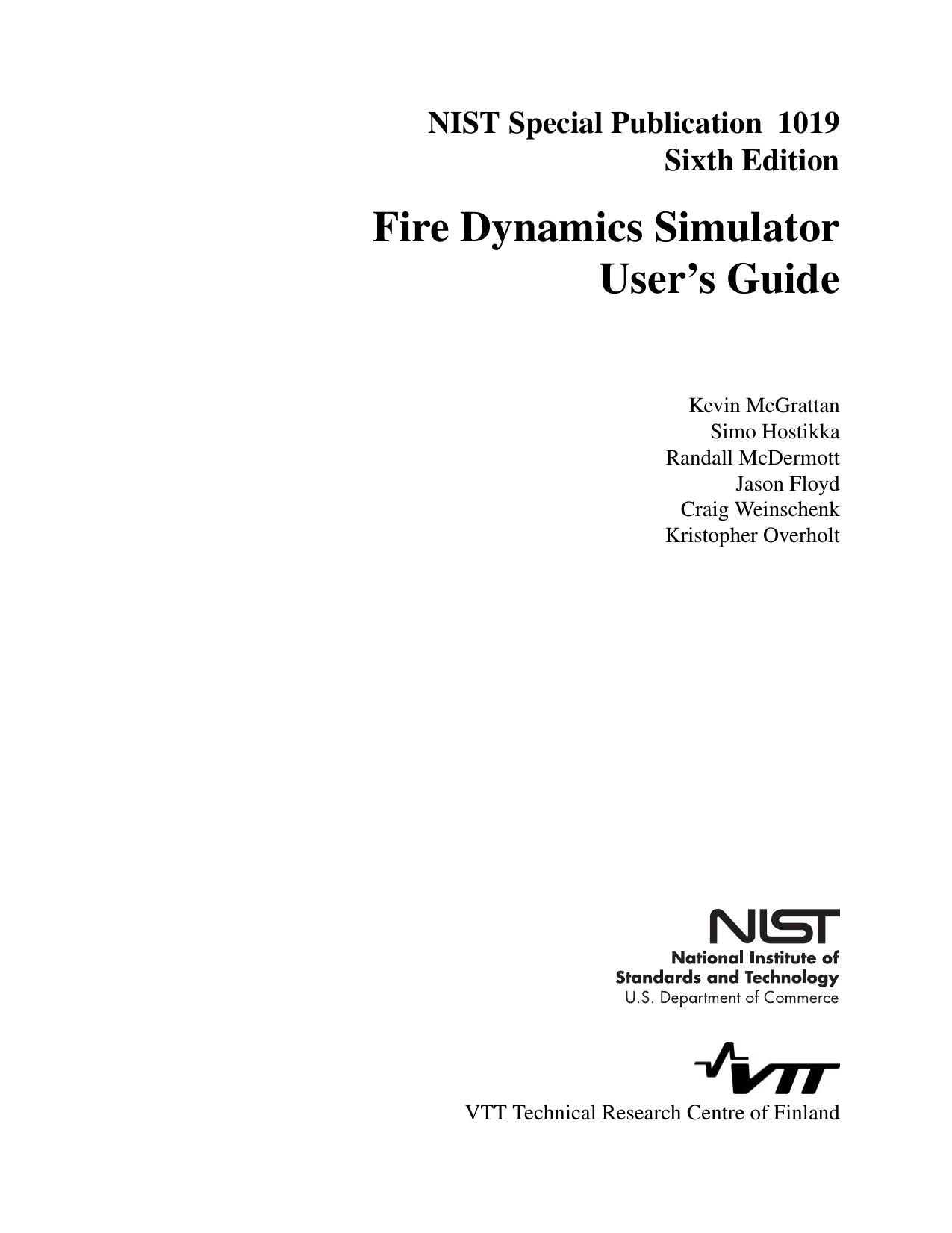 Fire Dynamics Simulator User`s Guide | manualzz com