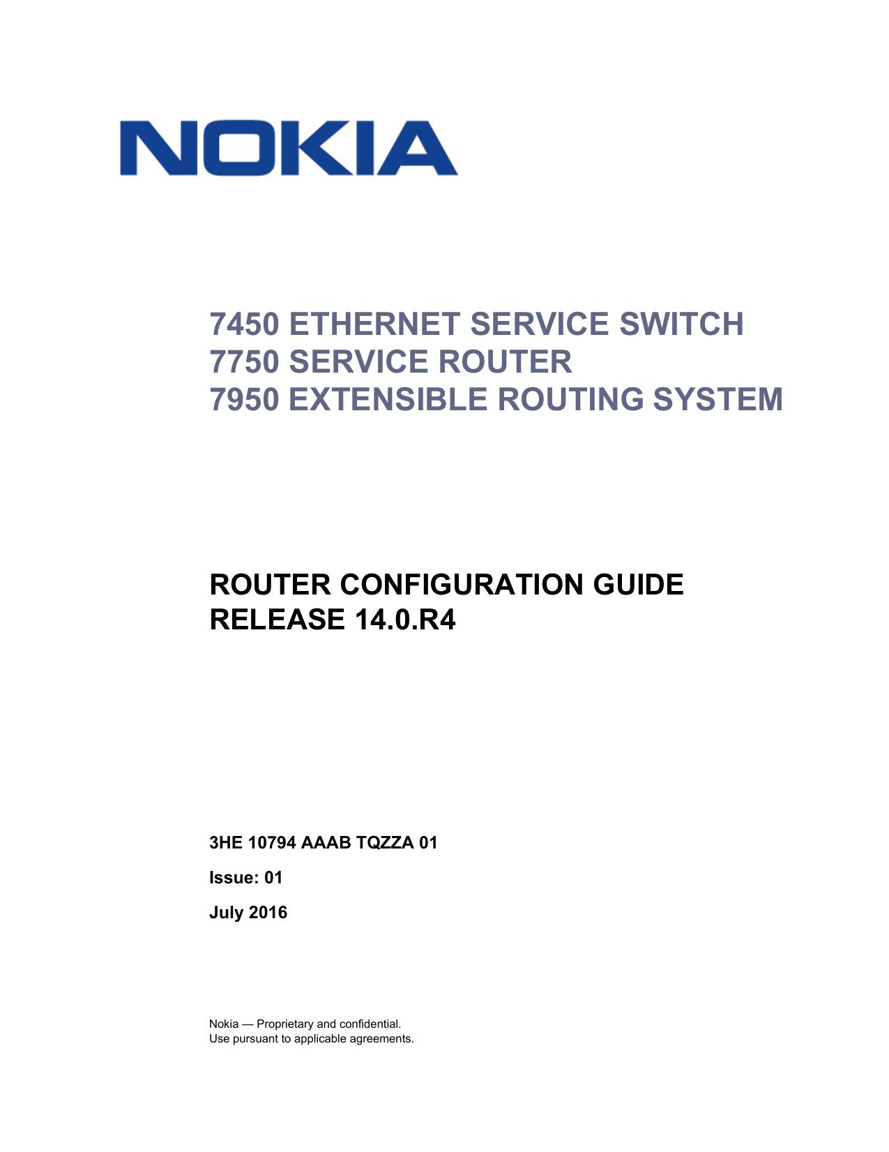 Router Configuration Guide R14 0 R4 - Alcatel | manualzz com