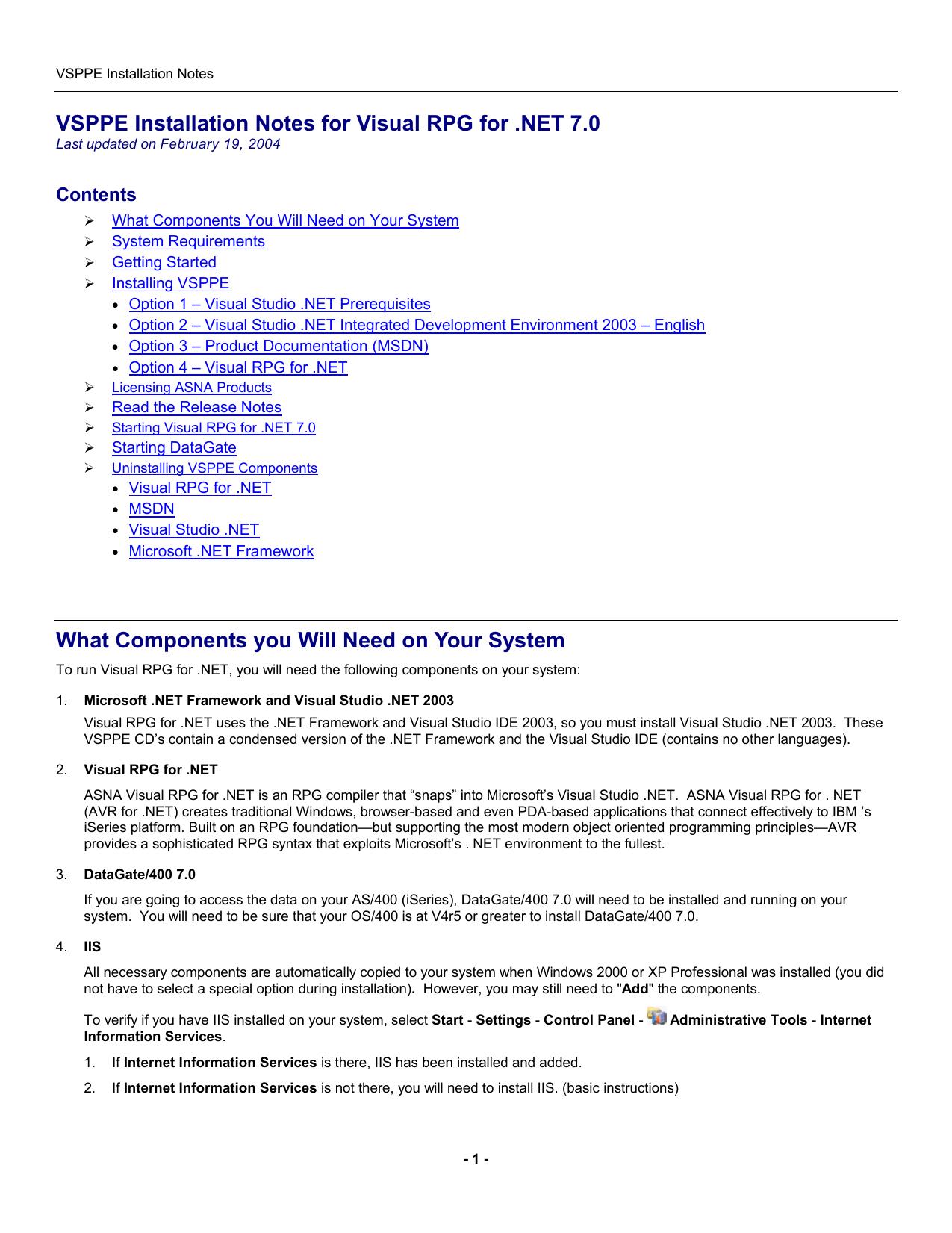 VSPPE Installation Guide | manualzz com
