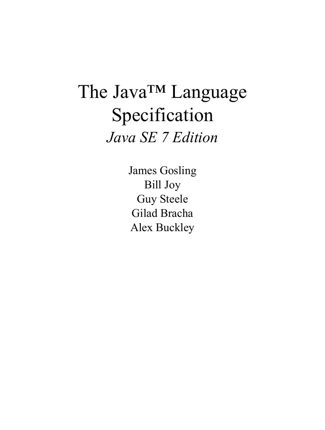 The Java™ Language Specification | manualzz com