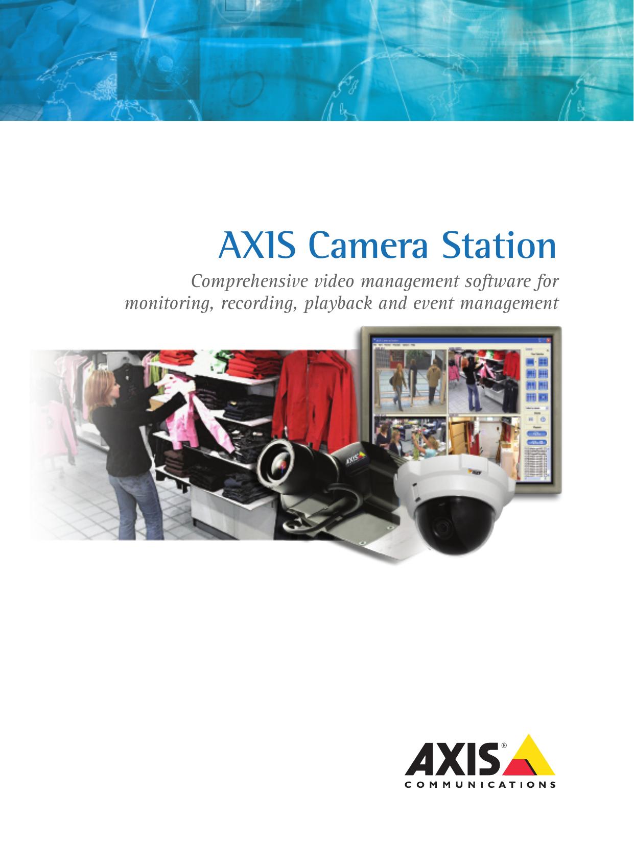 AXIS Camera Station - E | manualzz com